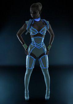 Incredible TRON Costume Actually Glows - TechEBlog