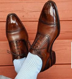 Love the super subtle patina touches that did on a pair of his Simpson brogues. Italian Leather Shoes, Leather Slip On Shoes, Leather Cap, Trendy Shoes, Casual Shoes, Suit Shoes, Shoes Men, Men Dress Shoes, Gents Shoes