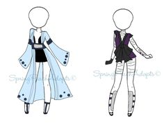 Naruto Outfit Adopts 12 (CLOSE) by SpringPeachAdopts.deviantart.com on @DeviantArt