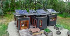This solar-powered shipping container home will surely surprise you. It really doesn't look like being made from three shipping containers. Building A Container Home, Container Buildings, Container Architecture, Sea Container Homes, Garden Architecture, Sustainable Architecture, 20ft Shipping Container, Shipping Container Home Designs, Shipping Containers