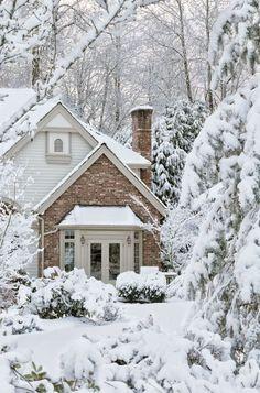 Winter Szenen, I Love Winter, Winter Magic, Winter White, Winter Christmas, Christmas Morning, Winter Season, Christmas Houses, Cottage Christmas