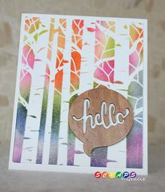 We love all the cards by ScrapsByGracie using stencils. Aspen Pines is one of our best sellers.