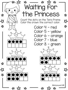 Color Math ~ Fairy Tale Facts ~ Color By The Number Code