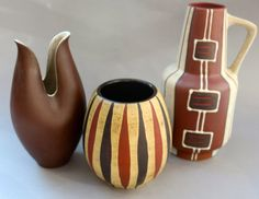 3 Fat Lava 50's   West German Pottery