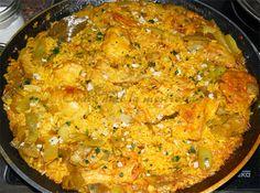 Paella De Pollo Y Verduras, Con Su Socarrat...
