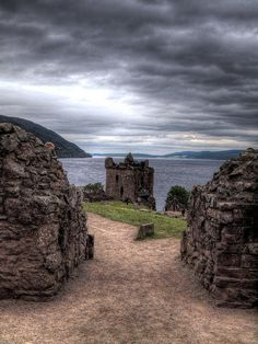 A brooding snap of Urquhart Castle, which lies on the banks of Loch Ness. http://www.historic-scotland.gov.uk/index/places.htm