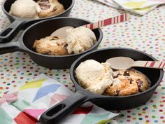 Chocolate Chip-Cherry Cast-Iron Cookies recipe from Damaris Phillips via Food Network
