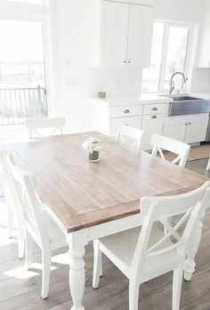 100+ White Kitchen Tables and Chairs - Kitchen Counter Decorating Ideas Check more at http://cacophonouscreations.com/white-kitchen-tables-and-chairs/