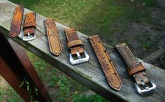 Watch straps made from vintage baseball gloves. An absolutely fantastic detail for the right watch (Panerai Luminor, anyone?)