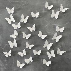 white paper butterflies, dearest someday #poppytalkhandmade