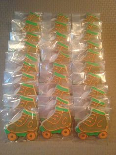 Roller Skate Cookies - Vanilla Sugar Cookies with Royal Icing Decorations.