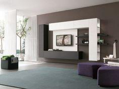 Schimbati aspectul camerei de zi cu un televizor bine asezat / Televizor integrat in mobila de pe perete sursa: http://www.renovat.ro