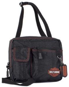 Harley-Davidson� Women's Rally Cross Body Bag Purse. Crinkle Nylon. Embroidery. Embossed Dog Tags. RL7215S $49.95