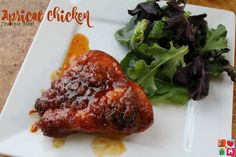 Apricot Chicken Crockpot Recipe - Having Fun Saving.  add your ingredients into the slow cooker in the morning and be ready to enjoy a delicious meal with your family come dinner time.