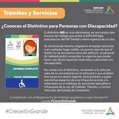 Conoce el distintivo para hacer uso de los espacios públicos reservados a personas con discapacidad.