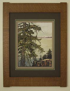 Craftsman Frames, Craftsman Decor, Craftsman Interior, Craftsman Style, Oak Mantel, Frame Crafts, Arts And Crafts Movement, Art Nouveau, Illustration Art
