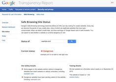Behind the red warning: more info about online site safety via Google Chrome Blog