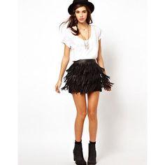 Tassels-Womens-Skirt-Faux-Leather-Mini-Bodycon-Slim-Pencil-Fashion-Pleated-F-B
