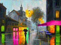 City lights Art