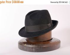 b1c71938151bd8 Mens hat / black felt winter autumn small brim hat fedora trilby hat made  to order by TUTUHandmadeHats