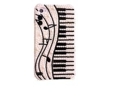 Note and Piano DIY Phone Case Deco Den Kit  Free Phone by chen370, $7.39