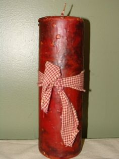 Apple Spice Candle by grubbyprimitives on Etsy, $8.00