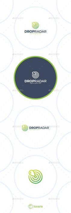 Water Drop Sonar Logo  Marker Radar — Vector EPS #detection #raindrop • Available here → https://graphicriver.net/item/water-drop-sonar-logo-marker-radar/12935814?ref=pxcr