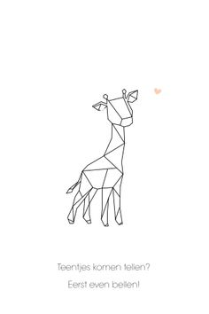 Unique birth card girl with giraffe of geometric shapes - Unique birth card girl with giraffe of geometric shapes - Geometric Drawing, Geometric Shapes, Geometric Giraffe Tattoo, Geometric Animal, Line Drawing, Drawing Sketches, Giraffe Drawing, Bullet Journal Writing, String Art
