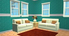 14 elegant wallpapers with wainscoting Wainscoting, Sims, Couch, Wallpapers, Elegant, Furniture, Home Decor, Classy, Wood Cladding