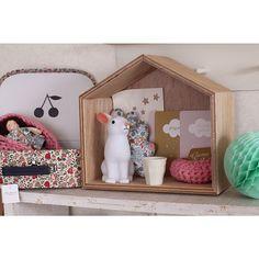 Woodland rabbit night light in a little house poche.buyshop.jp