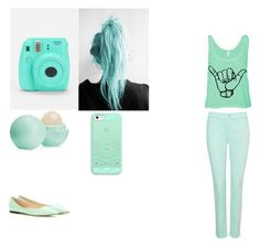 A fashion look from December 2015 featuring mint green shirt, zipper skinny jeans and green ballet flats. Browse and shop related looks. Mint Green Shirts, Casetify, Eos, Jimmy Choo, Everything, Fashion Looks, Polyvore, Shopping