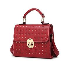 Rivet Stitching Hasp Tote Bag Wine Red (£18) ❤ liked on Polyvore featuring bags, handbags, tote bags, tote handbags, wine purse, tote bag purse, red tote and red handbags