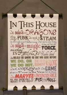 In This House . . . This is how we Roll Geeky by GeekyTendencies http://amzn.to/2qWZ2qa