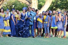 Sotho Traditional Dresses, South African Traditional Dresses, Traditional Wedding Attire, Traditional Outfits, Traditional Ideas, African Wedding Dress, African Print Dresses, African Fashion Dresses, African Dress