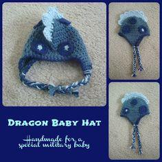 Crystal Panda: Crochet Dragon Baby Hat - free pattern