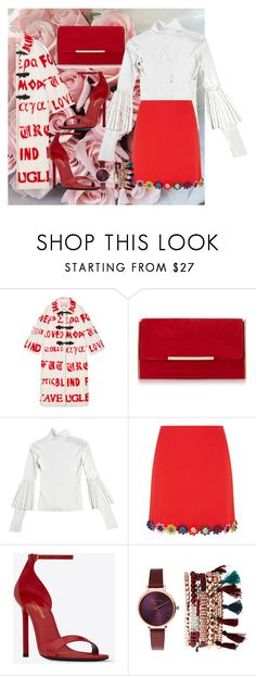 """""""Untitled #850"""" by brandi-gurrola on Polyvore featuring Gucci, Mary Katrantzou, Yves Saint Laurent and Jessica Carlyle"""