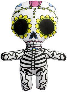 sugar skull pillow. kids room