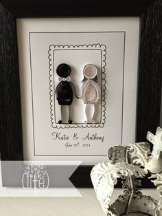 ~ a paper {life}: ~ quilled wedding couple (Katie & Anthony)