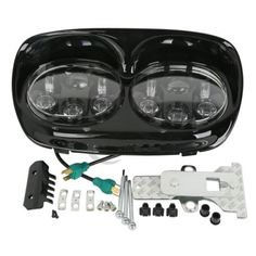 """56692 motorcycle-parts Black 5-3/4"""" LED Headlight Projector Daymaker Lamp For Harley Road Glide 98-13  BUY IT NOW ONLY  $246.99 Black 5-3/4"""" LED Headlight Projector Daymaker Lamp For Harley Road Glide 98-13..."""