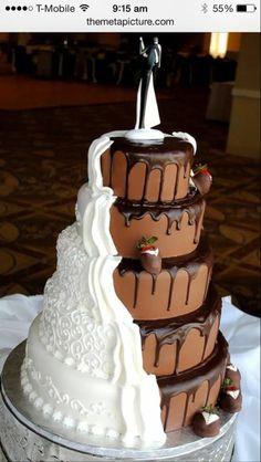 Wedding Cake- Chocolate and Vanilla