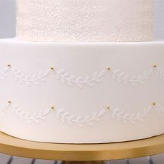 Designed by the talented Julie Deffense, this stencil has the look of delicate hand-piped vines, only they're perfect.and fast! Combine with any of her matching Vine Stencils to create multi-tiered cakes with coordinating patterns. Tiered Cakes, Vanilla Cake, Vines, Stencils, Delicate, Create, Cake Ideas, Desserts, Patterns
