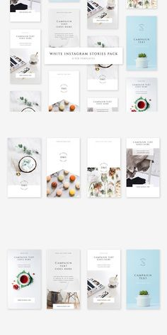 White Instagram Stories Pack