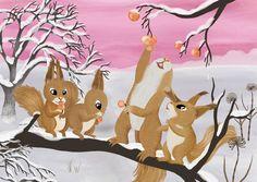 Squirrel illustration Jonna Markkula