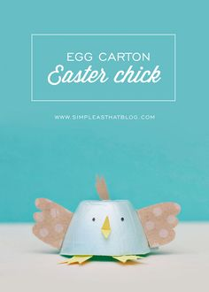 Egg Carton Easter Chick and Bunny. Fun kids activity for Spring / Easter.