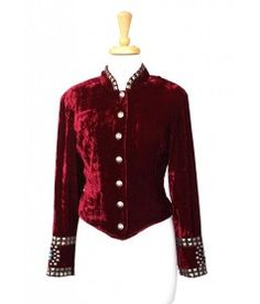 Double D Ranch Silversmith's Daughter Velvet Studded Jacket! Red
