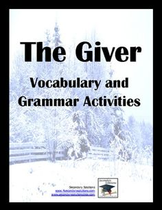 This Vocabulary Activity Pack for The Giver helps students get the most out of the entire novel through an in-depth study of vocabulary using the novel itself for instruction and practice. $5.99