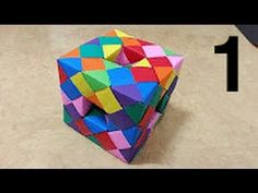 423 Origami 종이접기 (큐브 박스) 3 -1 Cube 색종이접기 摺紙 折纸 оригами 折り紙 اوريغامي - YouTube Origami Cube, Origami And Kirigami, Origami Paper Art, Modular Origami, Paper Crafts, Paper Quilling Tutorial, Origami Tutorial, Hama Beads Minecraft, Perler Beads