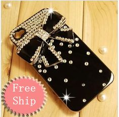 3D Crystal Bling Bow Bowknot Diamond Hard Case Cover For iphone4/4S 13 Colors  Best item ever seen, with very good price! Recommend!