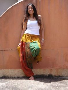 Discovering The History And Concepts Of Different Branches of Yoga Yoga Pants, Harem Pants, Aladdin Pants, Clothing Styles, Wide Leg Pants, What To Wear, Hot Girls, Hair Makeup, Hairstyles