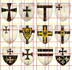 Shields of The Teutonic Knights